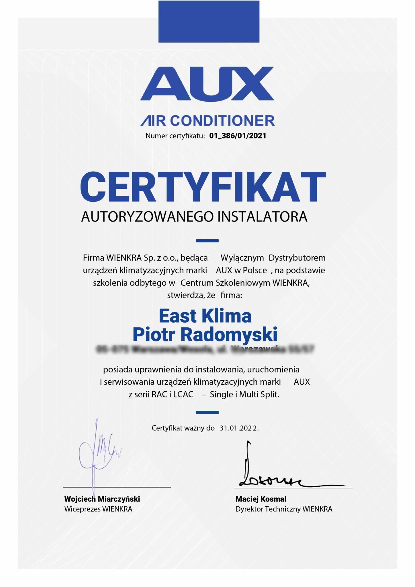 aux-certyfikat-autoryzacyjny-386-EASTKLIMA